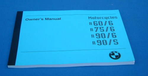 Handbuch/Owners manual R60/6,R75/6,R90/6,R90/S